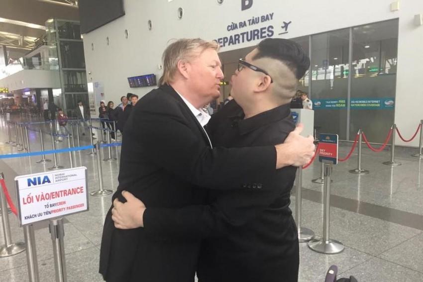 Kim Jong-un Impersonator Deported From Vietnam, Kisses Trump Impersonator Goodbye