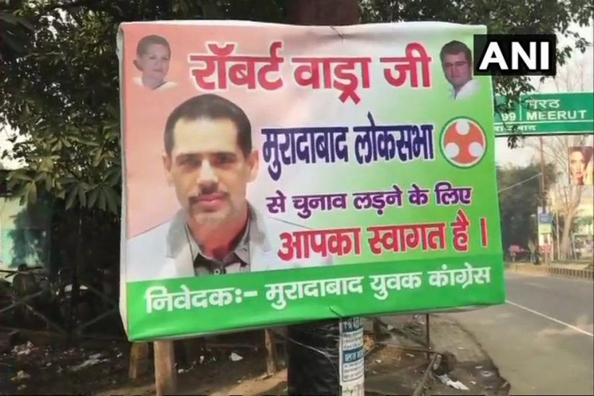 Posters Welcoming Robert Vadra To Contest LS Polls Displayed In UP