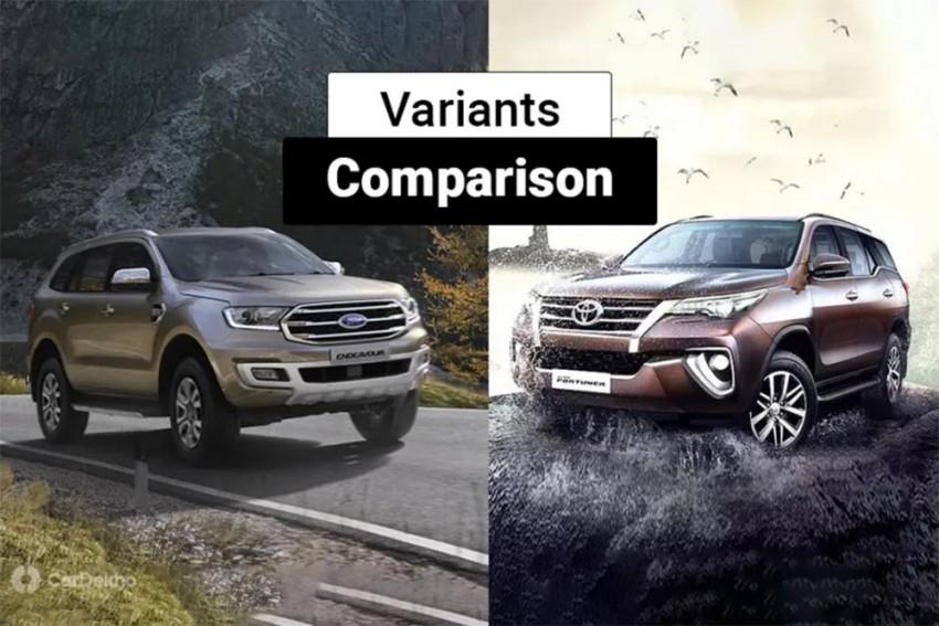 2019 Ford Endeavour vs Toyota Fortuner: Variants Comparison
