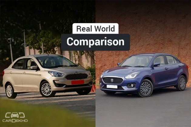 Maruti Dzire Vs Ford Aspire: Real World Performance, Mileage Comparison