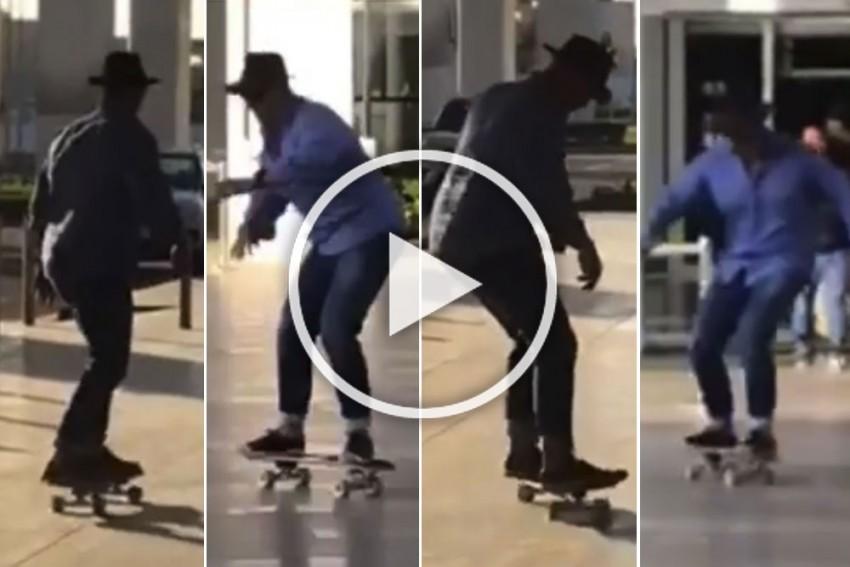 WATCH: Matthew Hayden Performs Impromptu Skateboard Gig In Chandigarh
