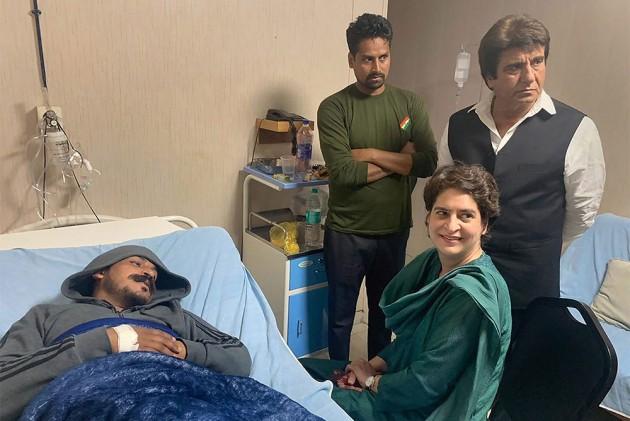 <em>Yeh Ahankaari Sarkaar Hai</em>: Priyanka Gandhi Hits Out At BJP After Meeting Bhim Army Chief Chandrasekhar Azad In Hospital
