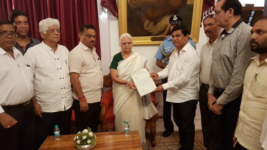 Congress Delegation Meets Governor To Stake Claim To Form Government In Goa