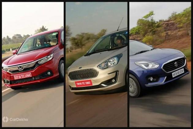 Maruti Dzire Vs Ford Aspire Vs Honda Amaze Petrol-MT: Real World Performance Comparison