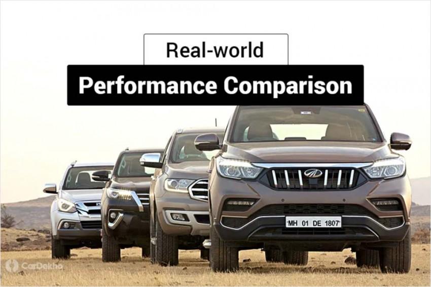 Ford Endeavour vs Toyota Fortuner vs Isuzu mu-X vs Mahindra Alturas G4: Real-world Performance Comparison