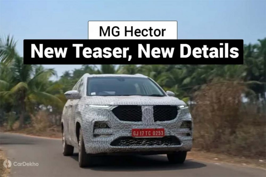 MG (Morris Garages) Hector SUV Teased Again; Gets Auto-Dimming IRVM, Panoramic Sunroof