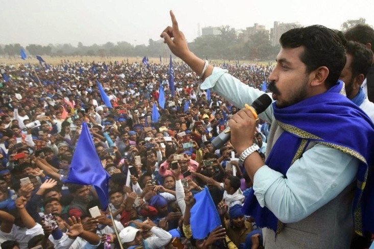 Countdown To PM Modi's Defeat Has Begun, Says Bhim Army Chief As He Launches Roadshow in Varanasi