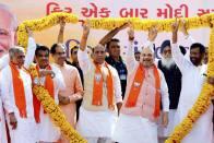 As Amit Shah Files Nomination, NDA Shows Strength At Gandhinagar
