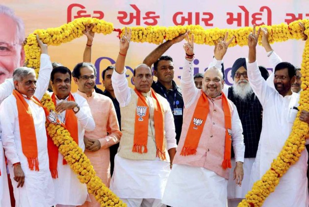As Amit Shah Files Nomination, NDA Shows Strength At Gandhinagar