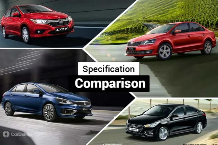Maruti Ciaz 1.5-litre Diesel vs Hyundai Verna, Honda City, Skoda Rapid & VW Vento: Spec Comparison