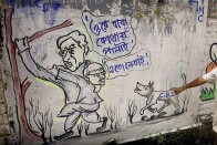 Poll Graffiti, Limericks Still Find Favour In West Bengal To Grab Voters' Attention
