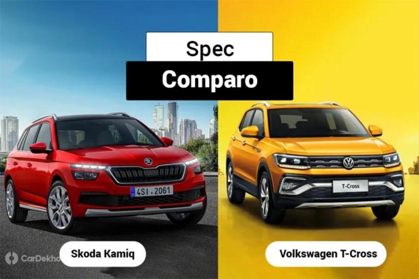 Skoda Kamiq vs Volkswagen T-Cross: Spec Comparison