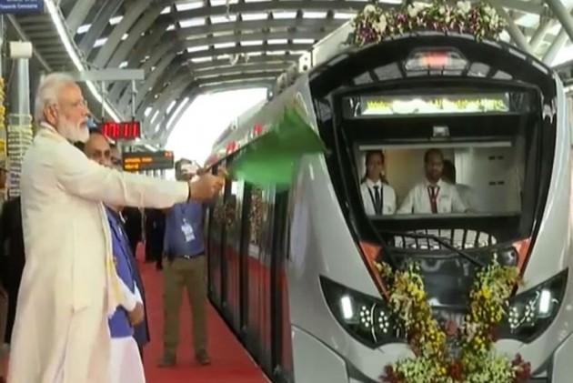 PM Modi Inaugurates First Phase Of Ahmedabad Metro