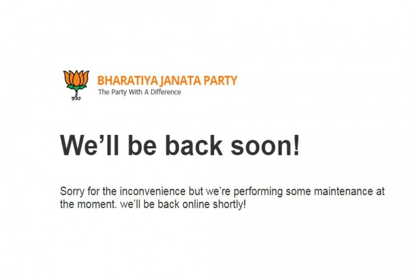 BJP Website Was Down Due To Technical Glitch, Not Hacking: IT Cell Head