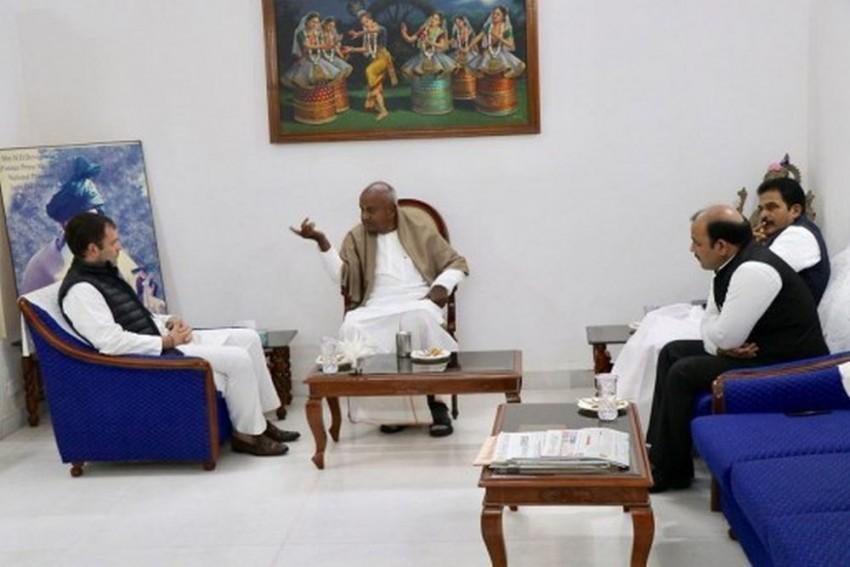 At Rahul-Gowda Meet, JD(S) Scales Down Demand To 10 LS Seats In Karnataka