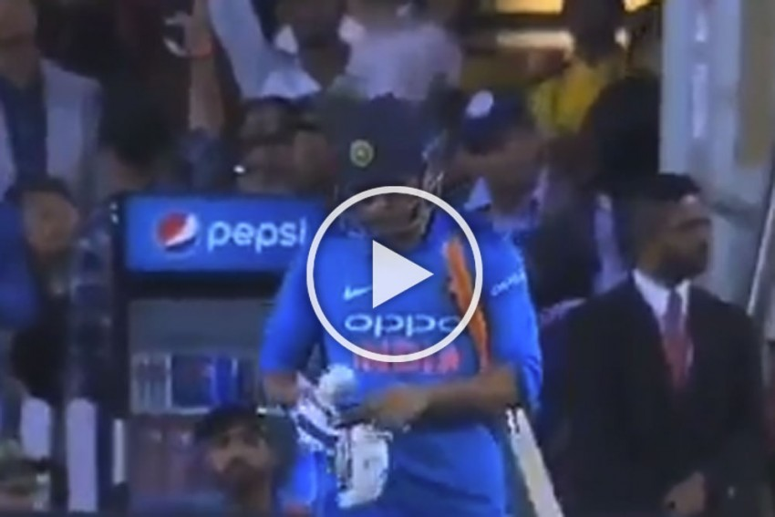 VIDEO: Ranchi Erupts As MS Dhoni Walks Out To Bat