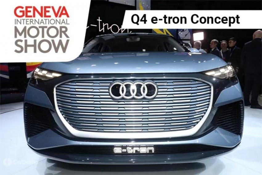 Audi Q4 e-Tron Concept Showcased At 2019 Geneva Motor Show