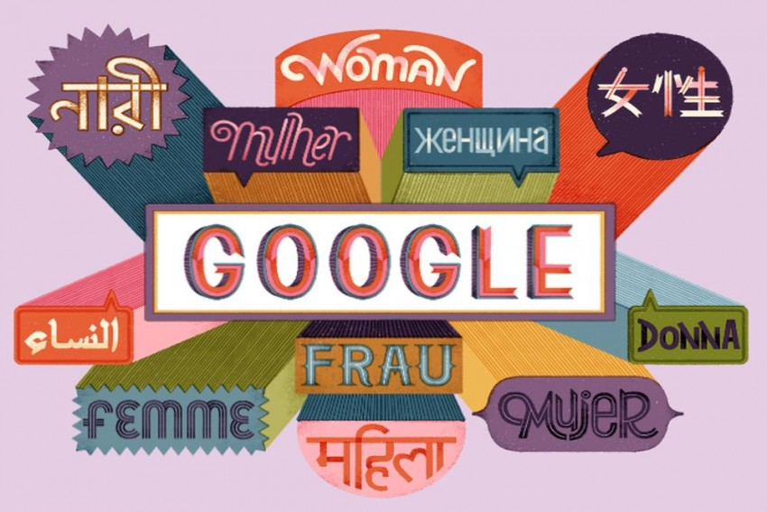 Google Doodle Celebrates A Multi-Lingual Women's Day