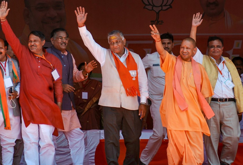 Dadri Lynching Accused Seen Sitting In Front Row At Yogi Adityanath's Rally