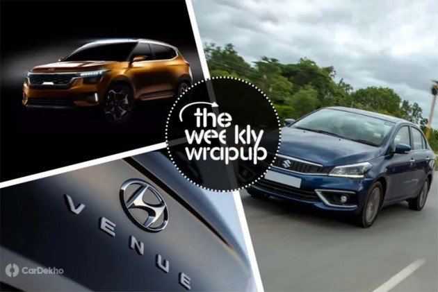 Weekly Wrap-Up: Next-gen Honda Jazz Spied, Hyundai QXi Named Venue, Maruti Ciaz 1.5 Diesel Launched & More