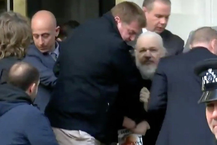 WikiLeaks Founder Julian Assange Arrested In London After Ecuador Terminates His Political Asylum