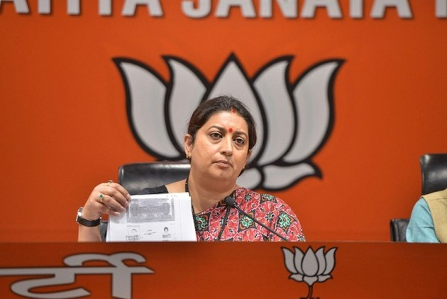 In Her Election Affidavit, Smriti Irani Declares She Is Not A Graduate