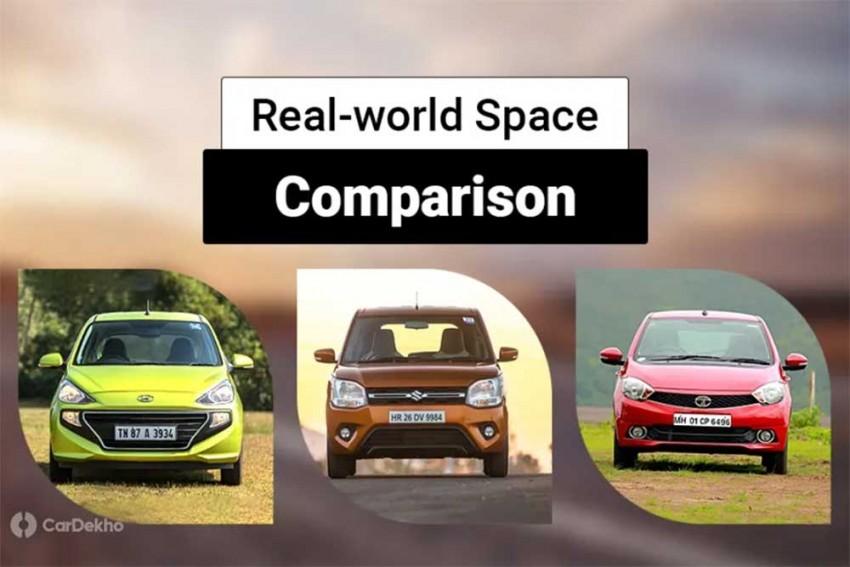 Maruti Suzuki WagonR vs Hyundai Santro vs Tata Tiago: Real-world Space Comparison