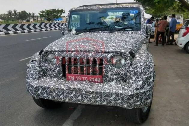 2020 Mahindra Thar Spied Again, Interior Revealed