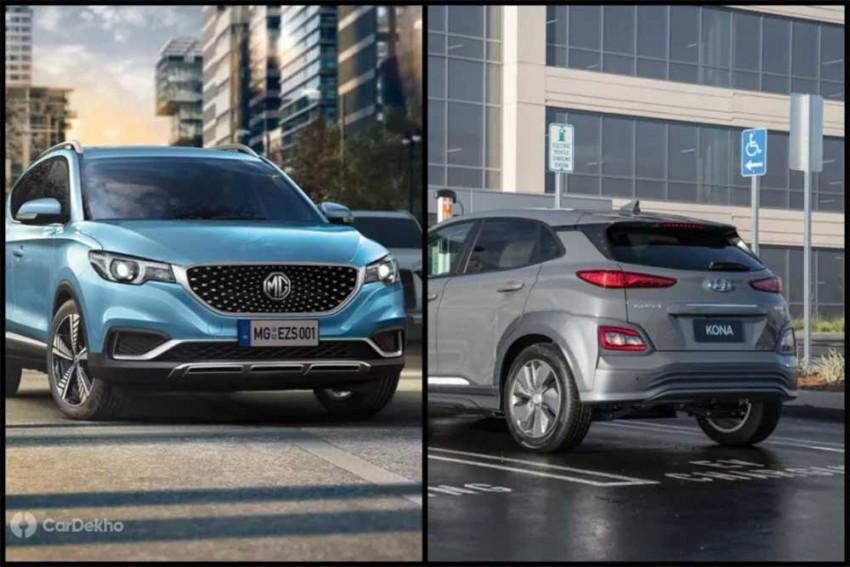 MG eZS Vs Hyundai Kona Electric: In Pics