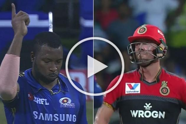 IPL 2019, MI Vs RCB: Kieron Pollard's 51-Metre Direct Hit Runs AB de Villiers Out, Fans Don't Miss Virat Kohli's Reaction – WATCH