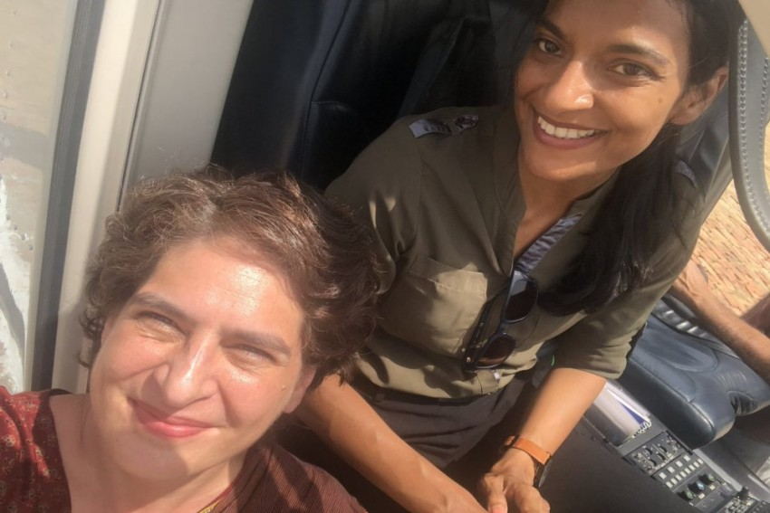 'Proud To Be Flown By A Lady', Says Priyanka Gandhi Praising Her Helicopter Pilot