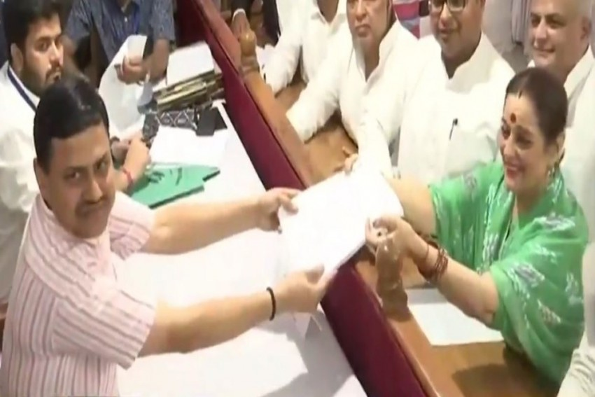Poonam Sinha Files Nomination From Lucknow, To Contest Against Rajnath Singh