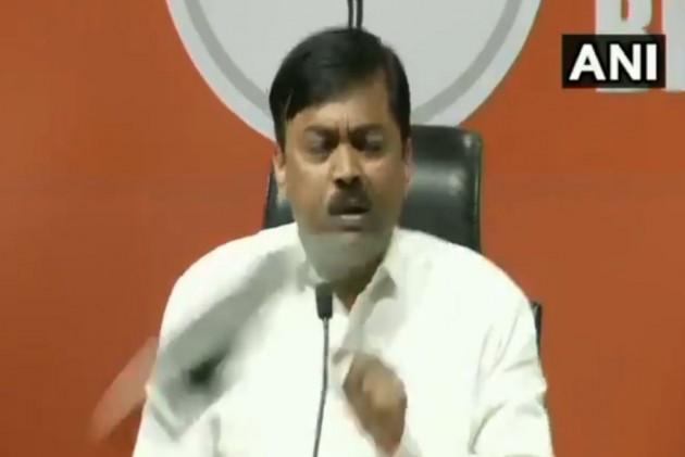 VIDEO: Shoe Hurled At BJP MP GVL Narasimha Rao During Press Conference In Delhi