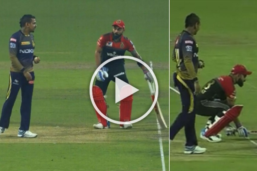 IPL 2019, KKR Vs RCB: Virat Kohli Teases Sunil Narine To Pull Off An 'Ashwin' – Watch Hilarious Mankad Play-Acting