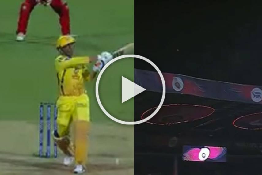 Watch Ms Dhoni S Monster Six Off Umesh Yadav Is Officially Season S Biggest