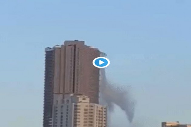 WATCH: Water From Rooftop Pool Falls 600 Feet Down Manila Building During Philippines Earthquake