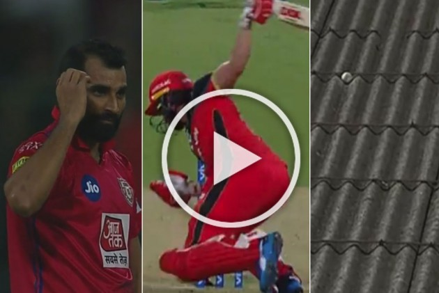 Watch Evasive Ab De Villiers Hits Mohammed Shami Beamer For Unbelievable Six