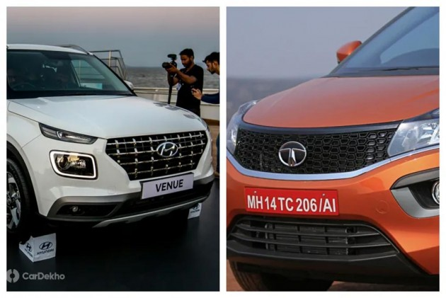 Hyundai Venue vs Tata Nexon: In Pics