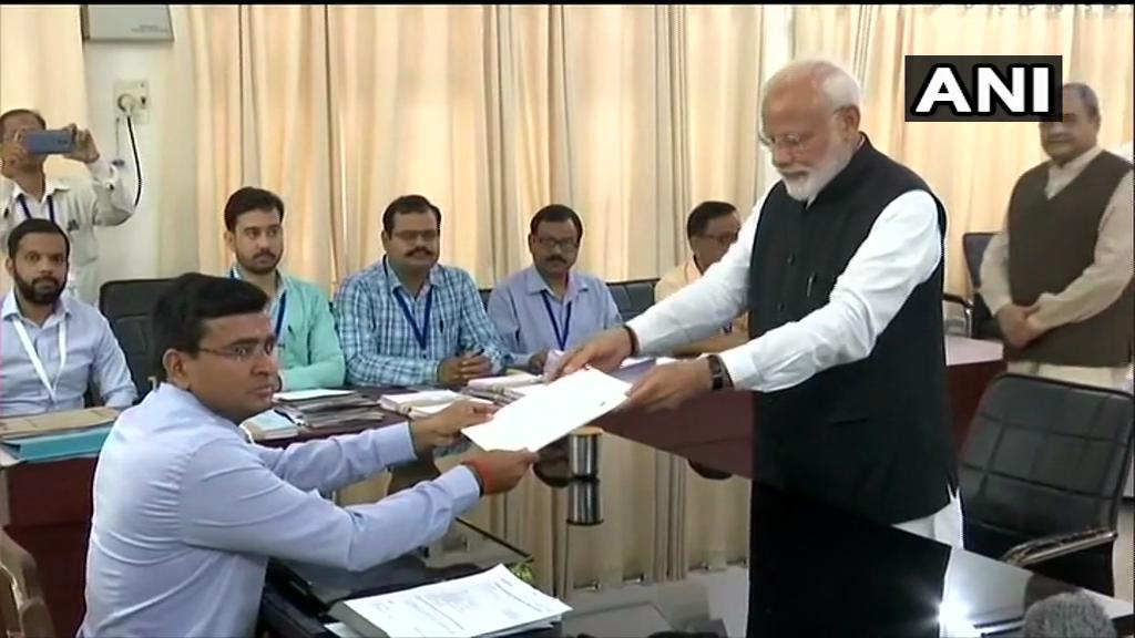 PM Narendra Modi Files Nomination Papers From Varanasi, Top NDA Leaders Accompany Him