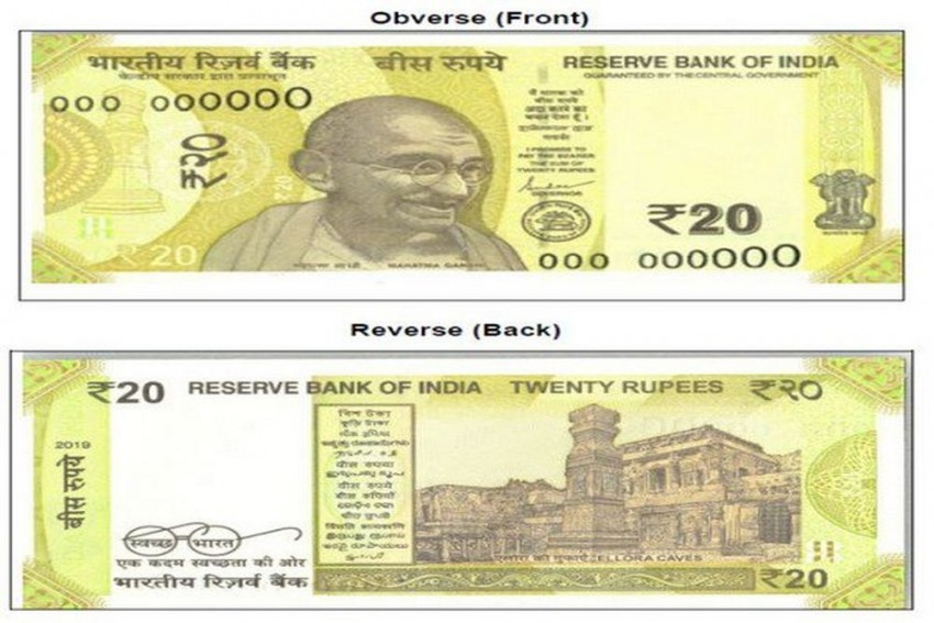RBI Announces Release Of Rs 20 Denomination Banknotes