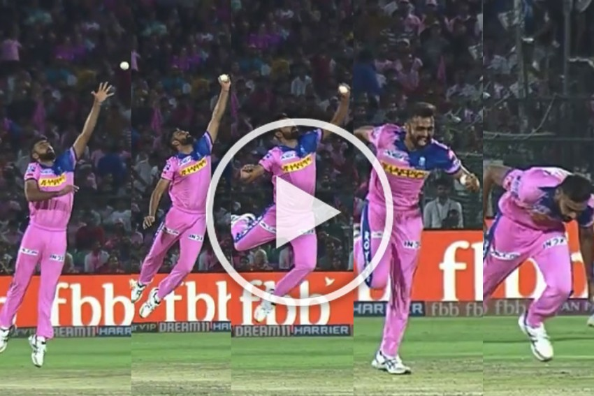 IPL 2019, RR Vs SRH: Jaydev Unadkat Hangs In The Air To Take A Sensational Return Catch; Jaipur Crowd Gasps – WATCH