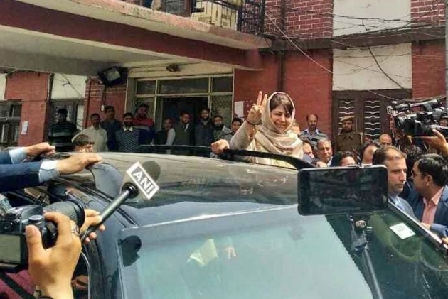 Mehbooba Mufti, NC's Hasnain Masoodi File Nomination From Anantnag For LS Elections