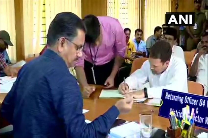 Rahul Gandhi Files Nomination From Kerala's Wayanad