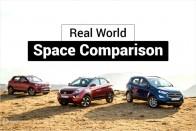 Mahindra XUV300 vs Maruti Vitara Brezza vs Tata Nexon vs Ford EcoSport vs Honda WR-V: Real-world Space Comparison