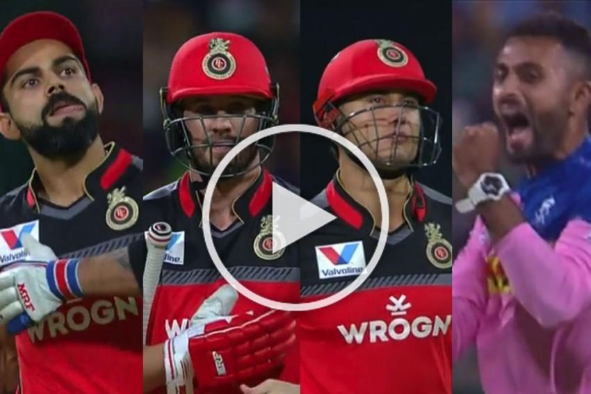IPL 2019, RCB Vs RR: Hat-Trick Of Highest Order! Shreyas Gopal Toys With Virat Kohli, AB de Villiers, Marcus Stoinis – WATCH