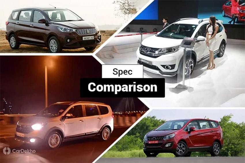 Maruti Suzuki Ertiga 1.5-litre Diesel Vs Mahindra Marazzo Vs Renault Lodgy Vs Honda BR-V: Spec Comparison