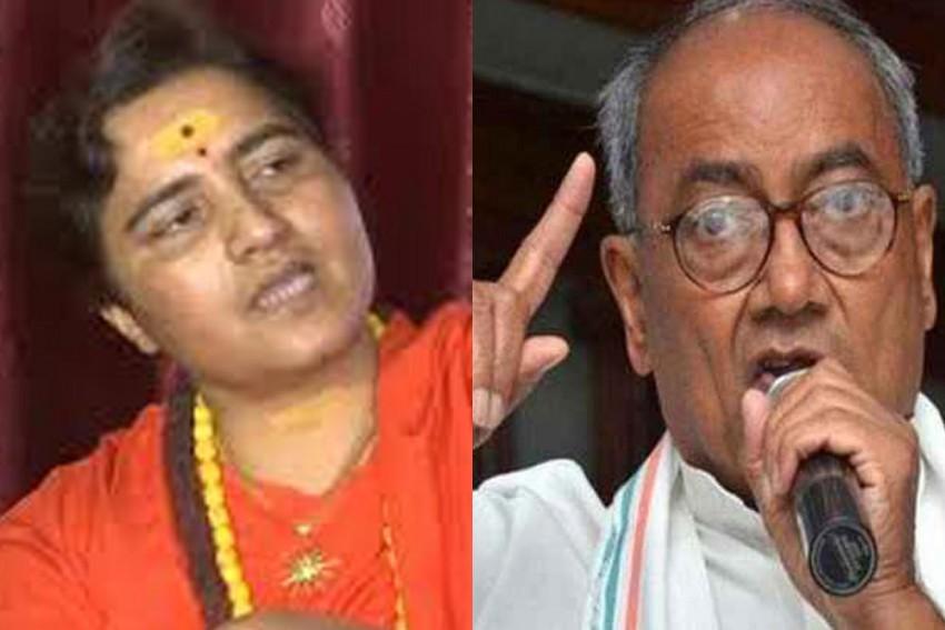 Digvijaya Singh, Sadhvi Pragya Locked In Close Contest In Bhopal