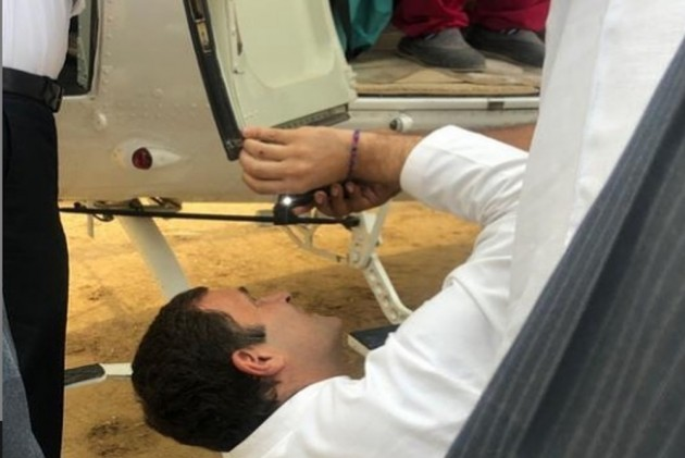 Rahul Gandhi Helps 'Fix' Helicopter, Shares Picture On Instagram