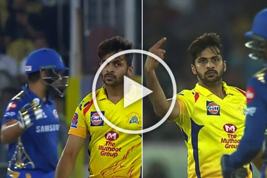Watch Shardul Thakur S Animated Send Off In Ipl Final Enrages Rohit Sharma
