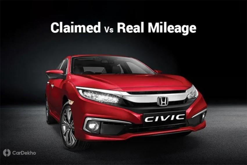 Honda Civic Petrol Fuel Efficiency: Claimed vs Real